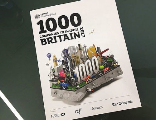 We are named as one of this year's '1,000 Companies to Inspire Britain'